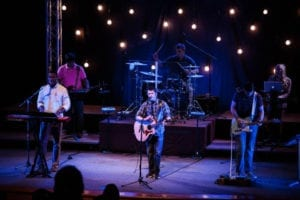 colton leads worship