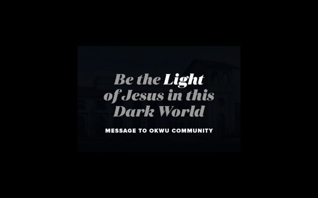 Be the Light of Jesus in this Dark World!