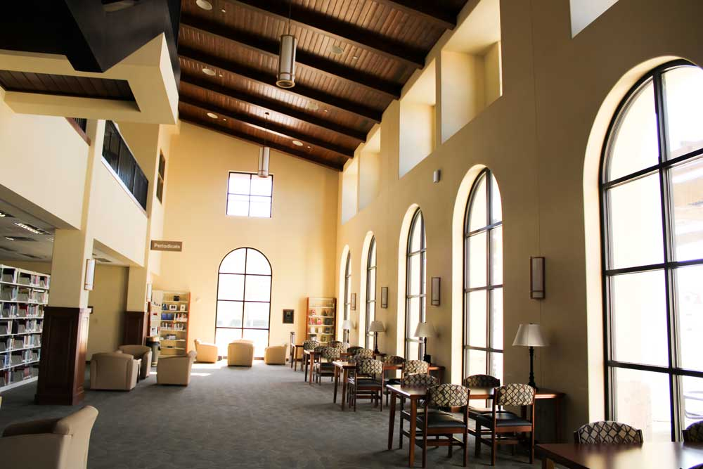 library indoor seating area