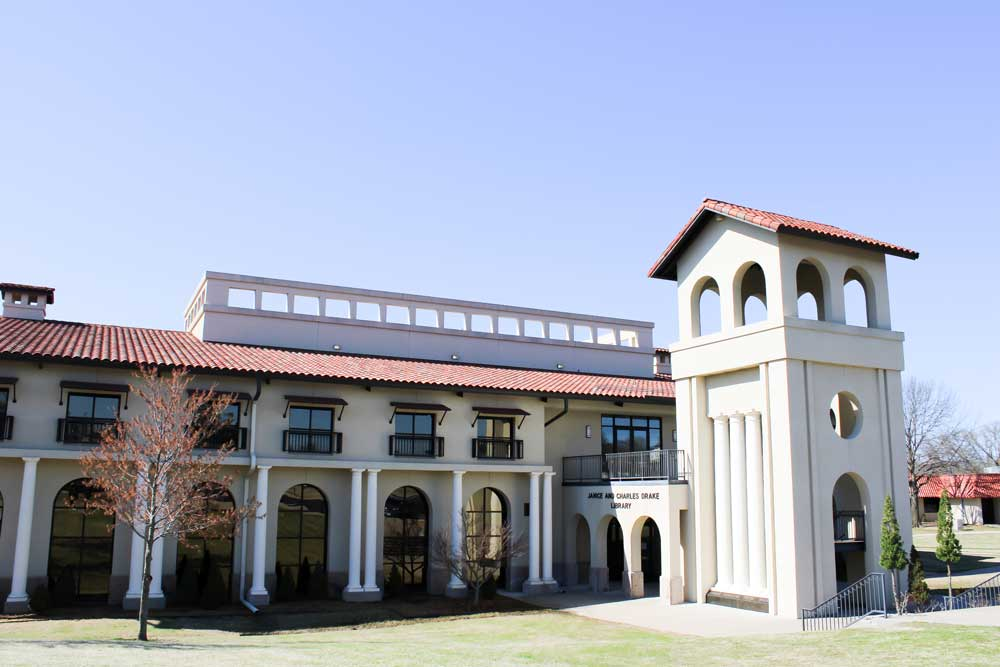 Janice and Charles Drake Library at Oklahoma Wesleyan University