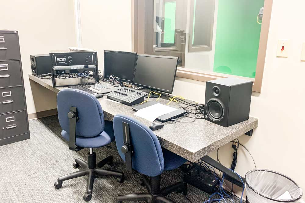 Sound booth in keating center
